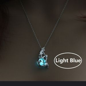 Back in...Mermaid Necklace with caged glowing bead